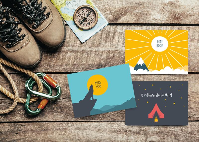 Postkarten Luft und liebe