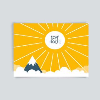 Postkarte kopf hoch