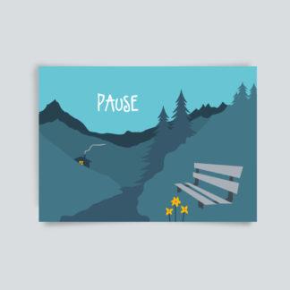 Postkarte Pause
