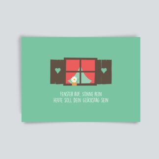 Postkarte Glückstag