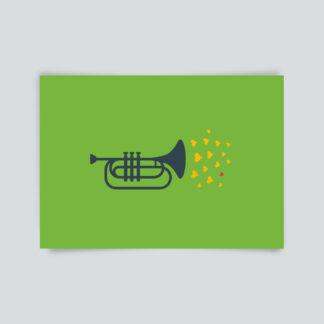 Postkarte Trompete