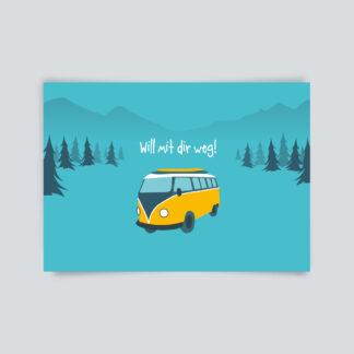 postkarte will weg