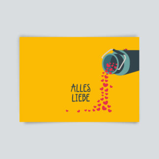 postkarte alles liebe