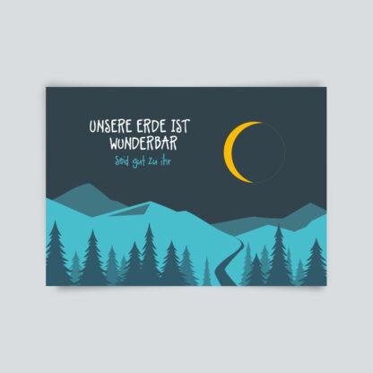 postkarte unsere Erde