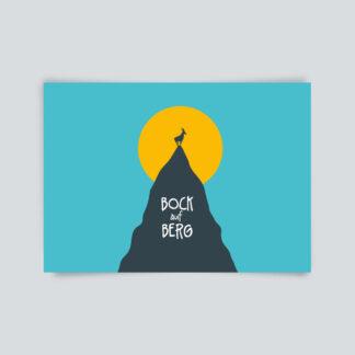 postkarte bock auf Berg