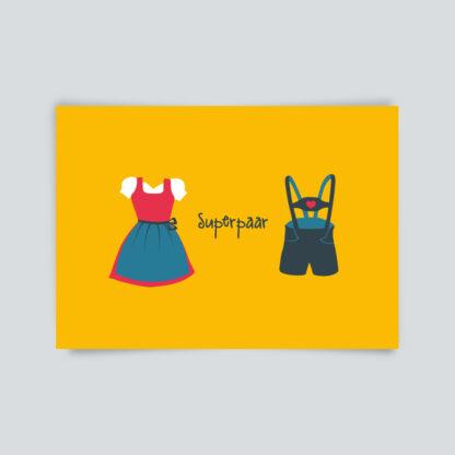 postkarte superpaar